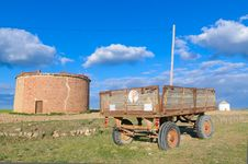 Free Old Agriculture Trailer Royalty Free Stock Photography - 24717287