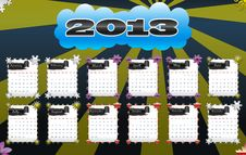Free 2013 Calendar Royalty Free Stock Image - 24719116