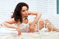 Free Lovely Brunette Posing In A Bedroom Royalty Free Stock Photos - 24726968