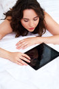 Free Beautiful Young Woman Using Tablet Computer Royalty Free Stock Photography - 24727707