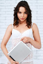 Free Beautiful Young Woman Using Tablet Computer Stock Photography - 24729452
