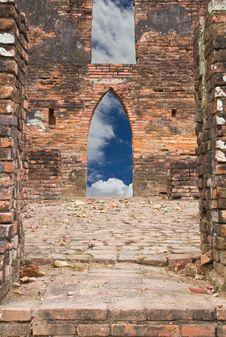 Sky Brick Door. Stock Photos