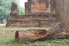 Free Ancient Buddhist Church With Timber. Stock Image - 24721351