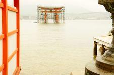 Free Miyajima Gate Under Construction Royalty Free Stock Image - 24721606