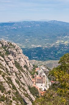 Monastery Of Montserrat. Catalonia Stock Images