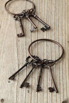 Free Old Keys Royalty Free Stock Photos - 24725688