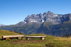 Free Landscape In The Swiss Alps Royalty Free Stock Photos - 24726228