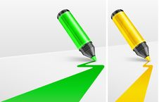 Free Markers And Bands Stock Photo - 24728440