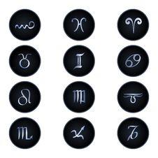 Free Zodiac Signs Isolated On White Stock Photos - 24731803