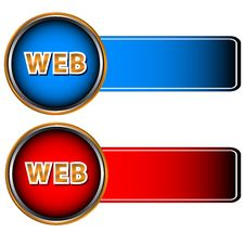 Two Web Icons Stock Image