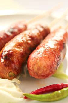 Free Sausage Royalty Free Stock Images - 24734449