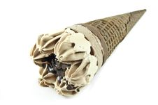 Chocolate Ice Cream Cone Stock Photos