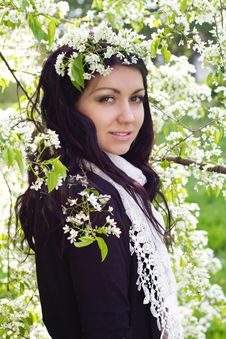 Free Girl With Spring Flowers Stock Image - 24735591