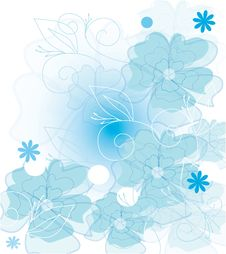 Free Blue Flowers Royalty Free Stock Photos - 24735648