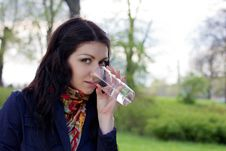Free Woman With Water Royalty Free Stock Image - 24735886