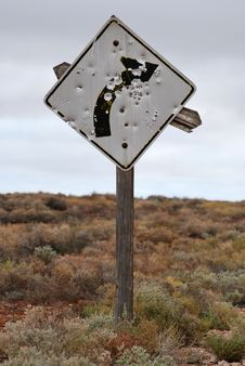 Free Outback Roadsign Stock Images - 24736394