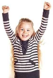 Free Funny Smiling Little Girl Stock Images - 24736474