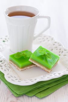 Free Lime Mint Cookie Bar Royalty Free Stock Photos - 24737308