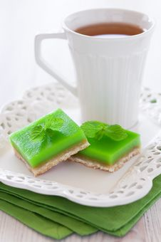 Free Lime Mint Cookie Bar Stock Images - 24737314