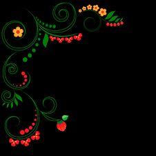 Free Hohloma Style Pattern Royalty Free Stock Image - 24738036