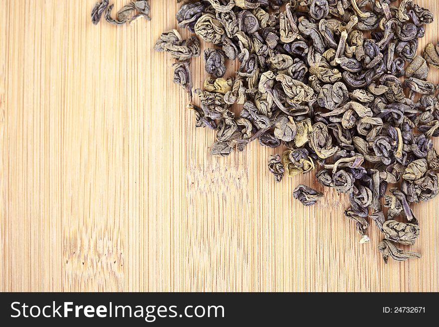Green tea dried leaves