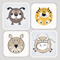 Free Cat, Dog, Mouse And Cow Icons Stock Photography - 24741482