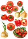 Free Fresh Vegetables Isolated On White Royalty Free Stock Photos - 24745428