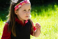Free Pretty Little Girl In Sunny Meadow Royalty Free Stock Photos - 24745478