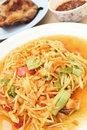 Free Thai Papaya Salad Royalty Free Stock Photos - 24746308