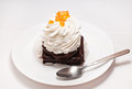 Free Cake On A Plate Stock Photography - 24749762