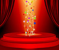 Free Red Curtains And Red Marquee Background Stock Photography - 24749992
