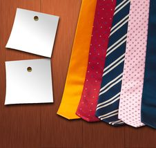 Free Set   Ties Royalty Free Stock Images - 24740239