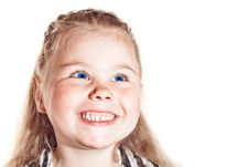 Free Smiling Little Girl Stock Photography - 24740262