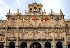 Facade Of City Hall In Salamanca Royalty Free Stock Photos