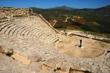 Free Segesta &x28;Sicily&x29; - The Theater Stock Images - 24740484