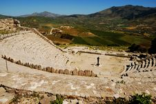 Free Segesta &x28;Sicily&x29; - The Theater Royalty Free Stock Photography - 24740607