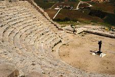 Free Segesta &x28;Sicily&x29; - The Theater Stock Image - 24741061