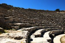 Segesta S Theater &x28;Sicily&x29; Royalty Free Stock Image