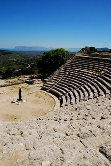 Segesta S Theater &x28;Sicily&x29; Royalty Free Stock Images