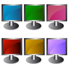 Free Six Monitors In Royalty Free Stock Images - 24742219