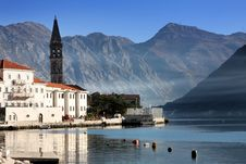Perast Village Near Kotor, Montenegro Stock Image