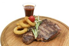 Free Steak On The Grill Royalty Free Stock Photography - 24743057