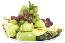 Free A Plate Of Ripe Fruit Stock Photos - 24743083