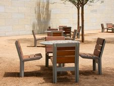 Free Chairs And Tables On The Park Stock Photography - 24745532