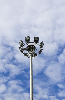 Free Spot-light Tower In Blue Sky Stock Images - 24745674