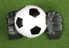 Free Soccer Ball On Grass Stock Photos - 24745783