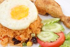 Free American Fried Rice Royalty Free Stock Images - 24745929