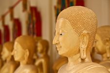 Free The Golden Face Of Buddha Stock Image - 24746921