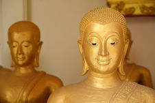 Free The Golden Face Of Buddha Royalty Free Stock Photography - 24746927