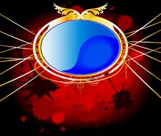 Free Elegant Blue And Gold Background Stock Photo - 24749690